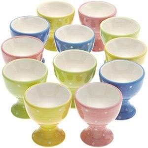 Polka-dotted Pastel Egg Cups