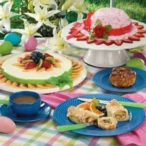 Easter Bonnets Top Off Holiday Brunch