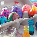 Coloring Easter Eggs Photo
