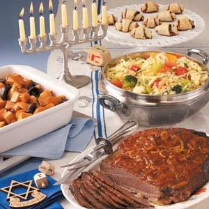 Old-Fashioned Hanukkah Menu