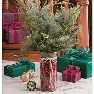 Cranberries & Boughs Centerpiece