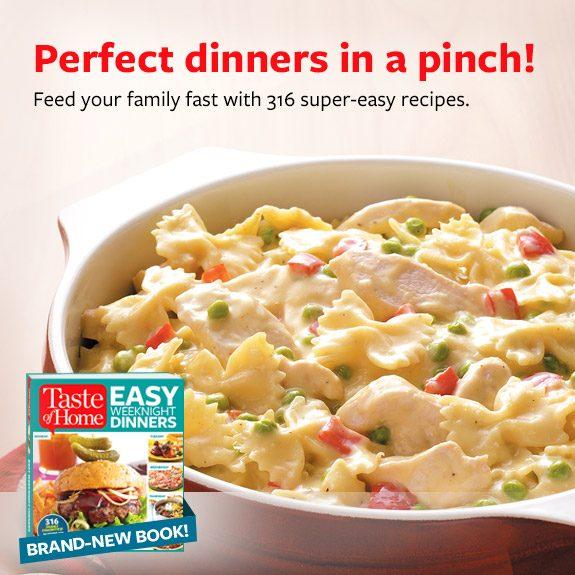 Easy Weeknight Dinners Cookbook