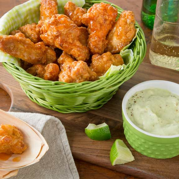 Farm Rich Wings With Tasty Dip