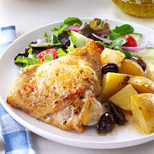 Greek-Style Lemon Garlic Chicken