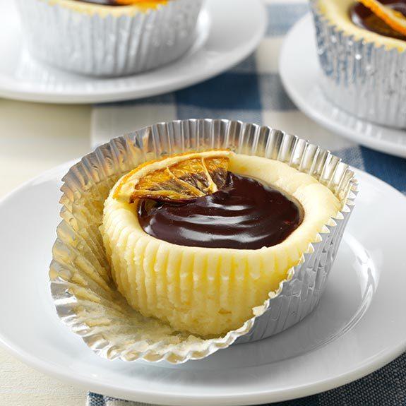 Orange Cheesecake Cupcakes with Dark Chocolate Ganache