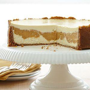 Pumpkin Pie Layered Cheesecake