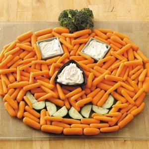Pumpkin Veggie Tray Recipe