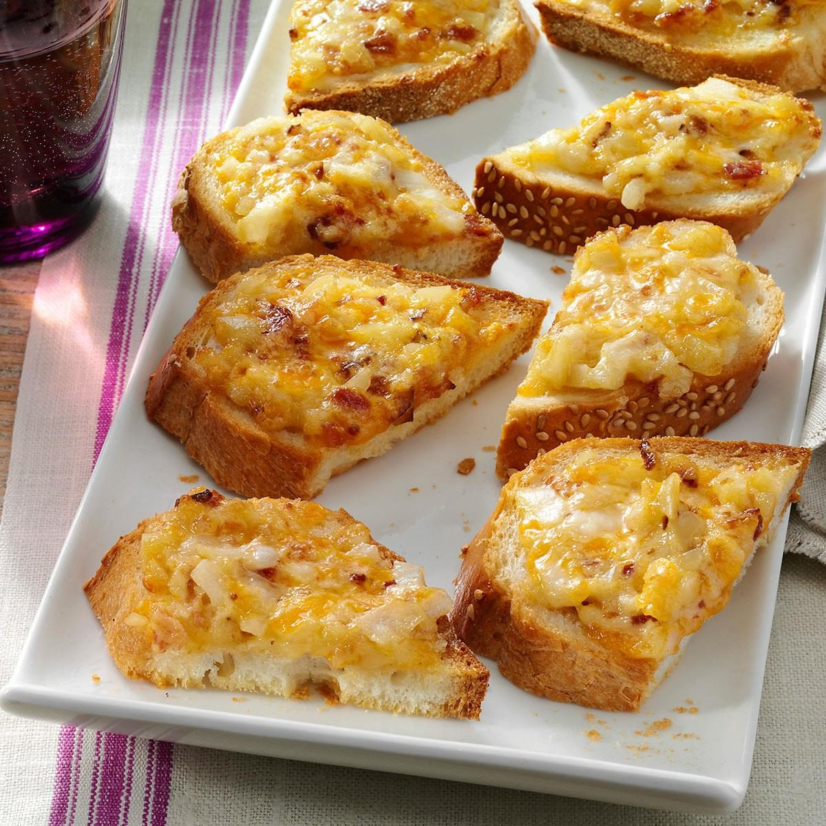 Almond cheddar appetizers recipe taste of home for Appetizers to make at home