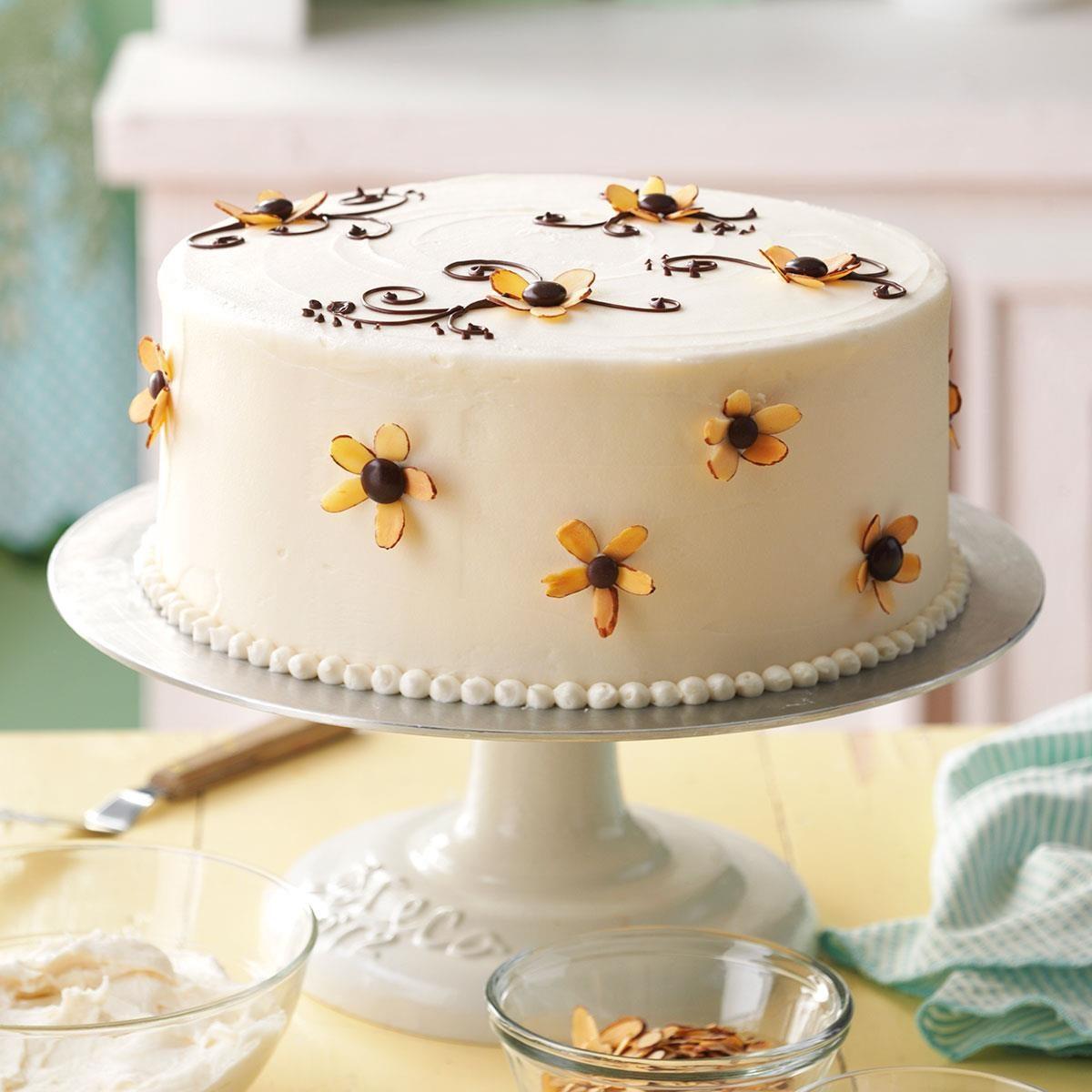 Amaretto Cake With Buttercream Frosting Recipe