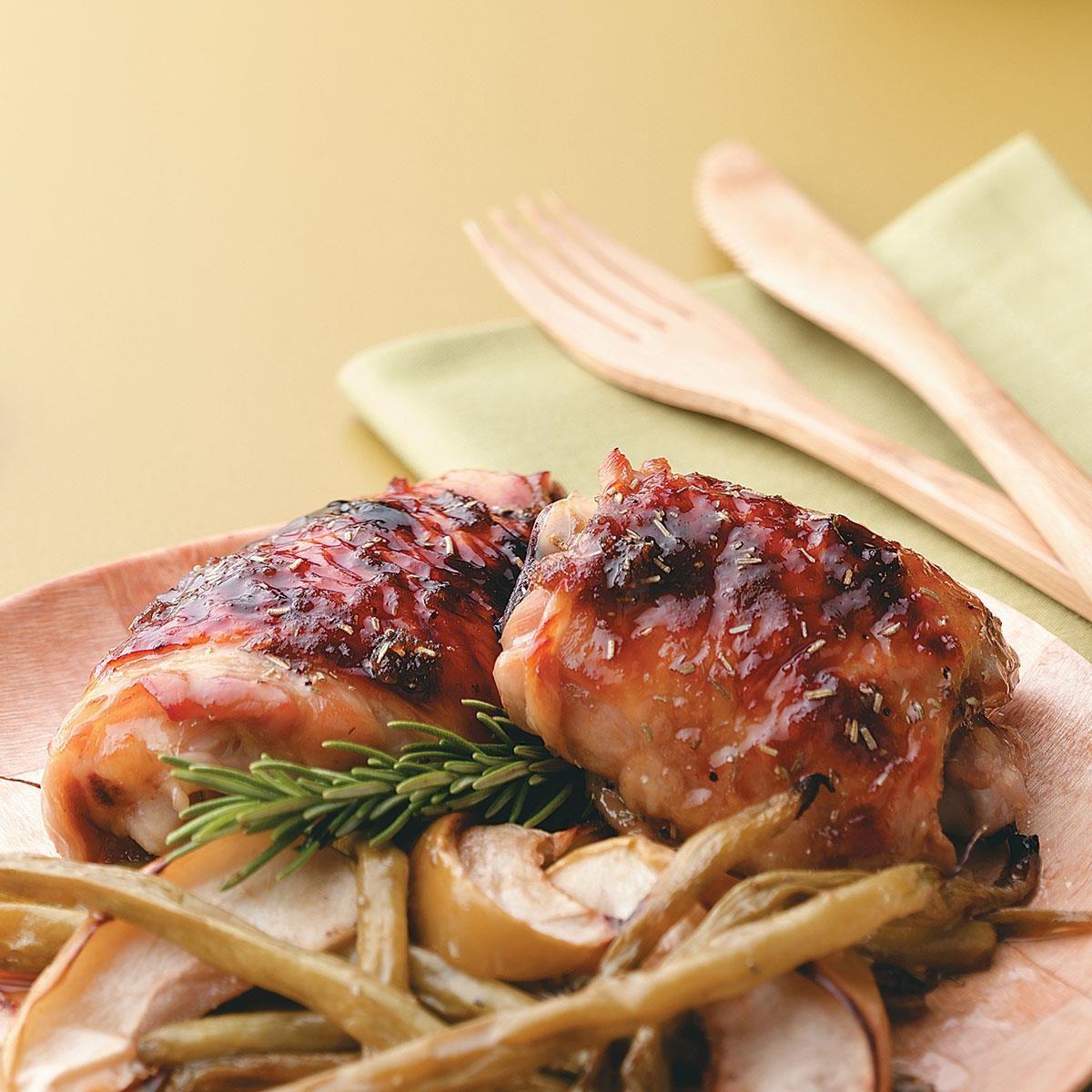 Apple-Brined Chicken Thighs Recipe