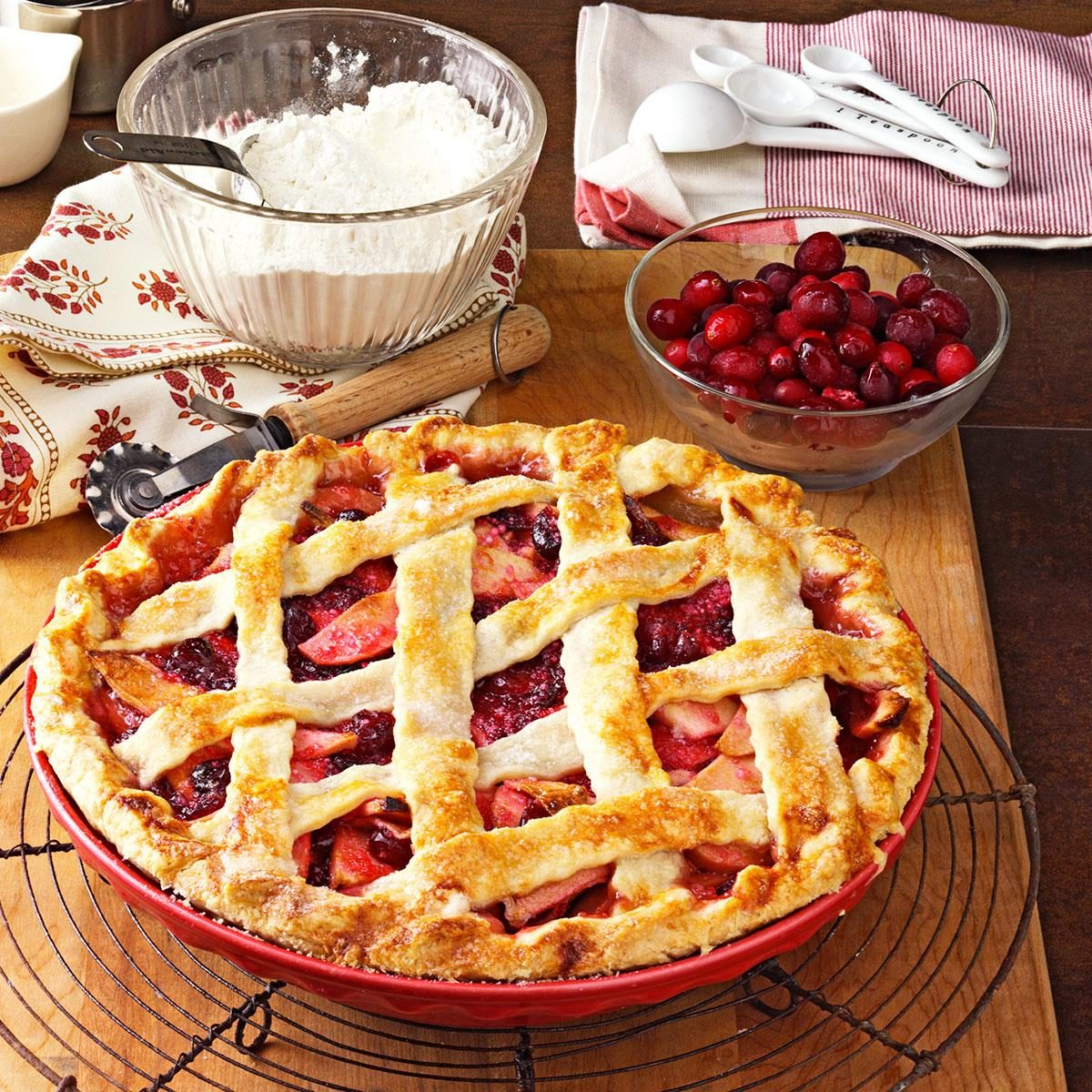 Apple Cranberry Pie Recipe | Taste of Home