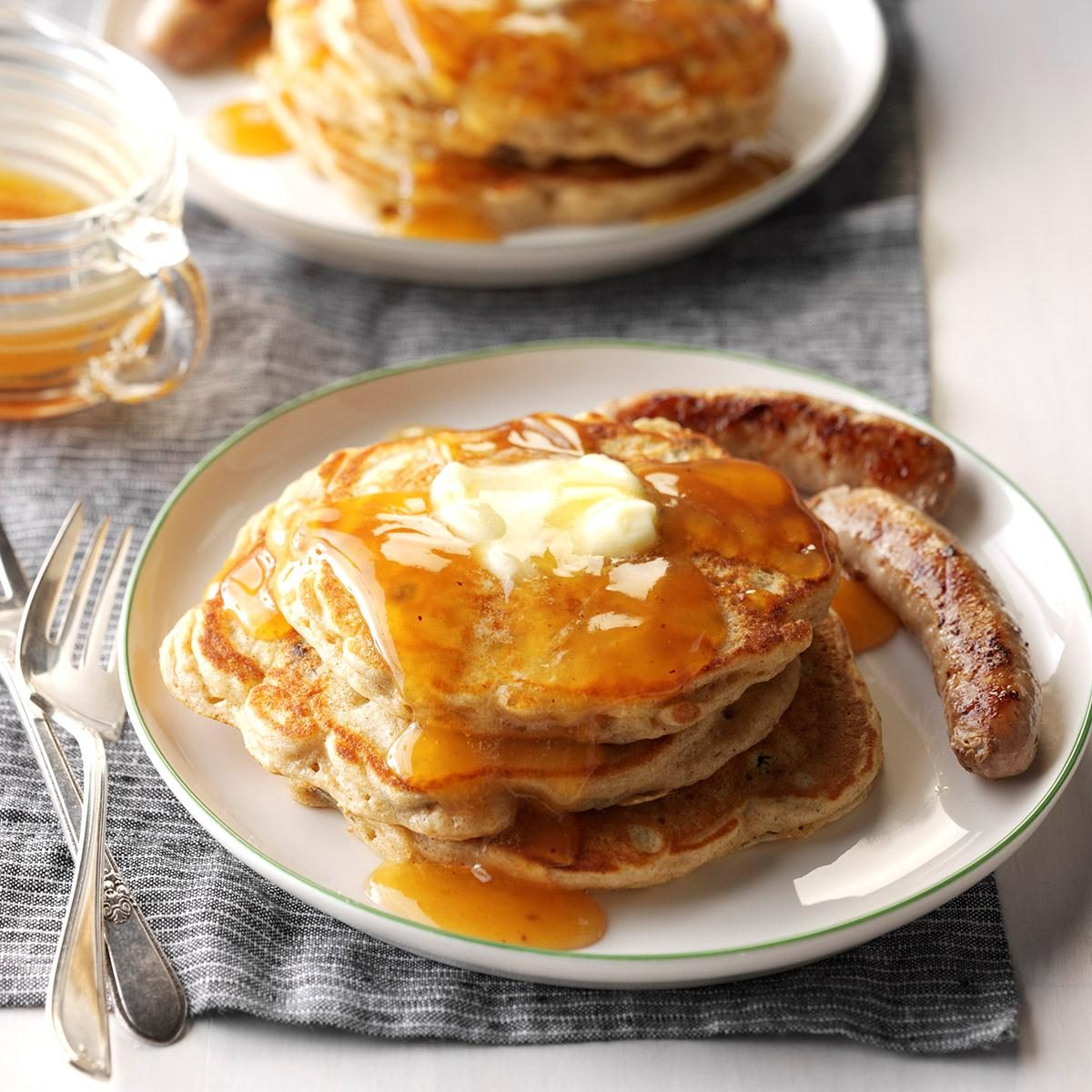 Apple Pancakes With Cider Syrup Recipe Taste Of Home