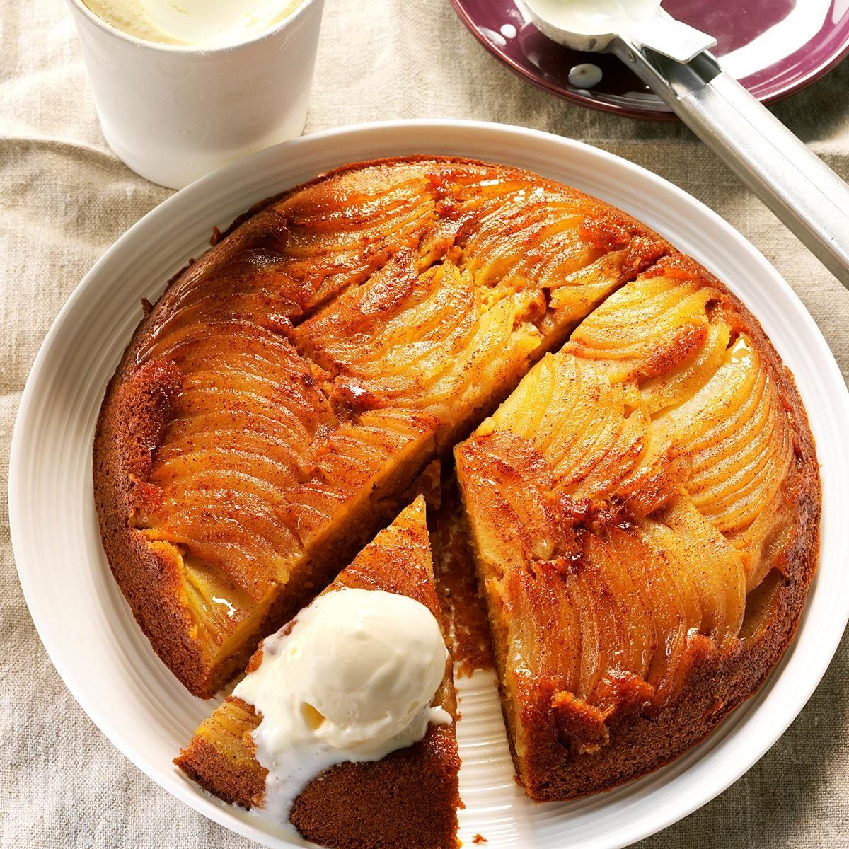 Apple Squash Upside Down Cake Recipe