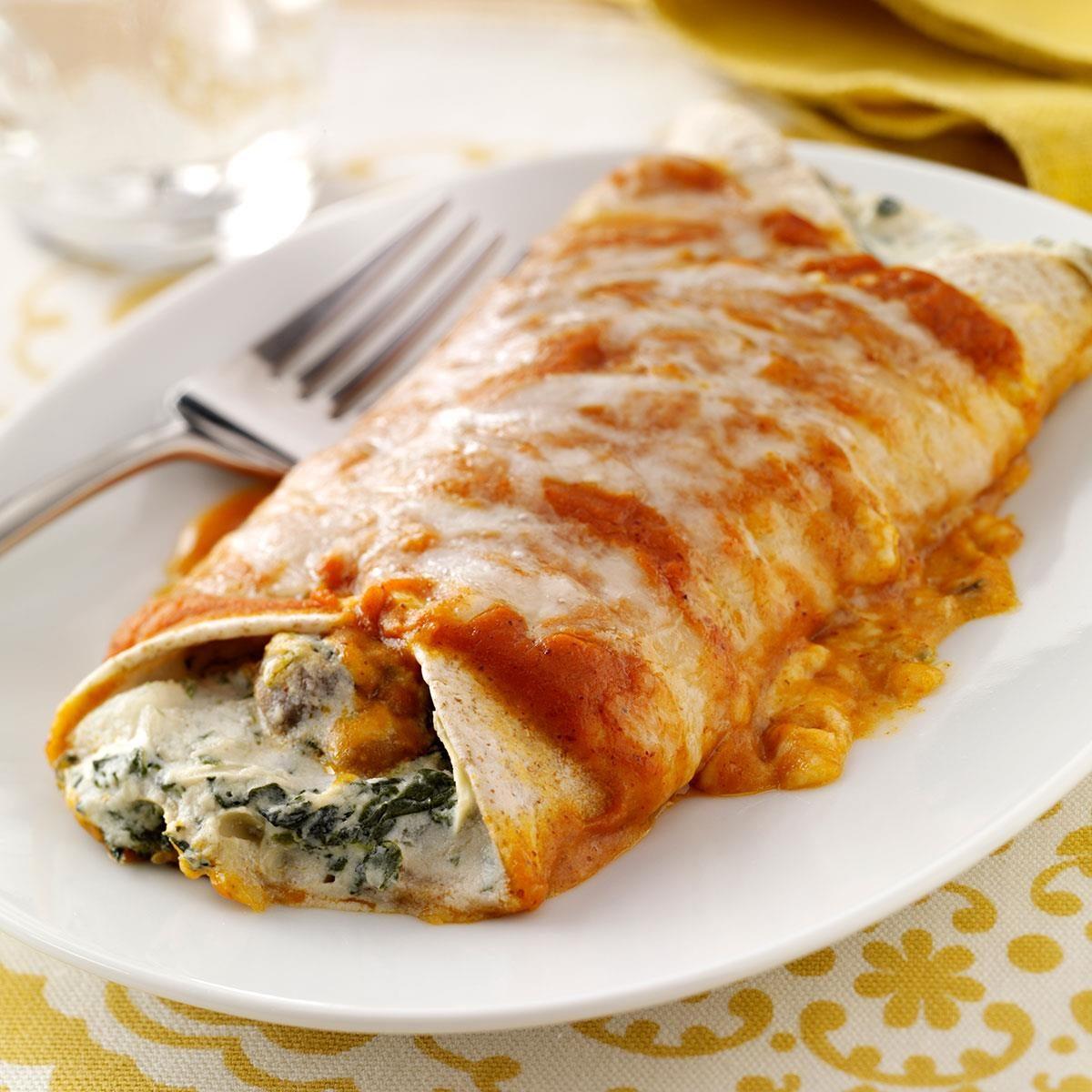 Artichoke & Spinach Enchiladas Recipe   Taste of Home