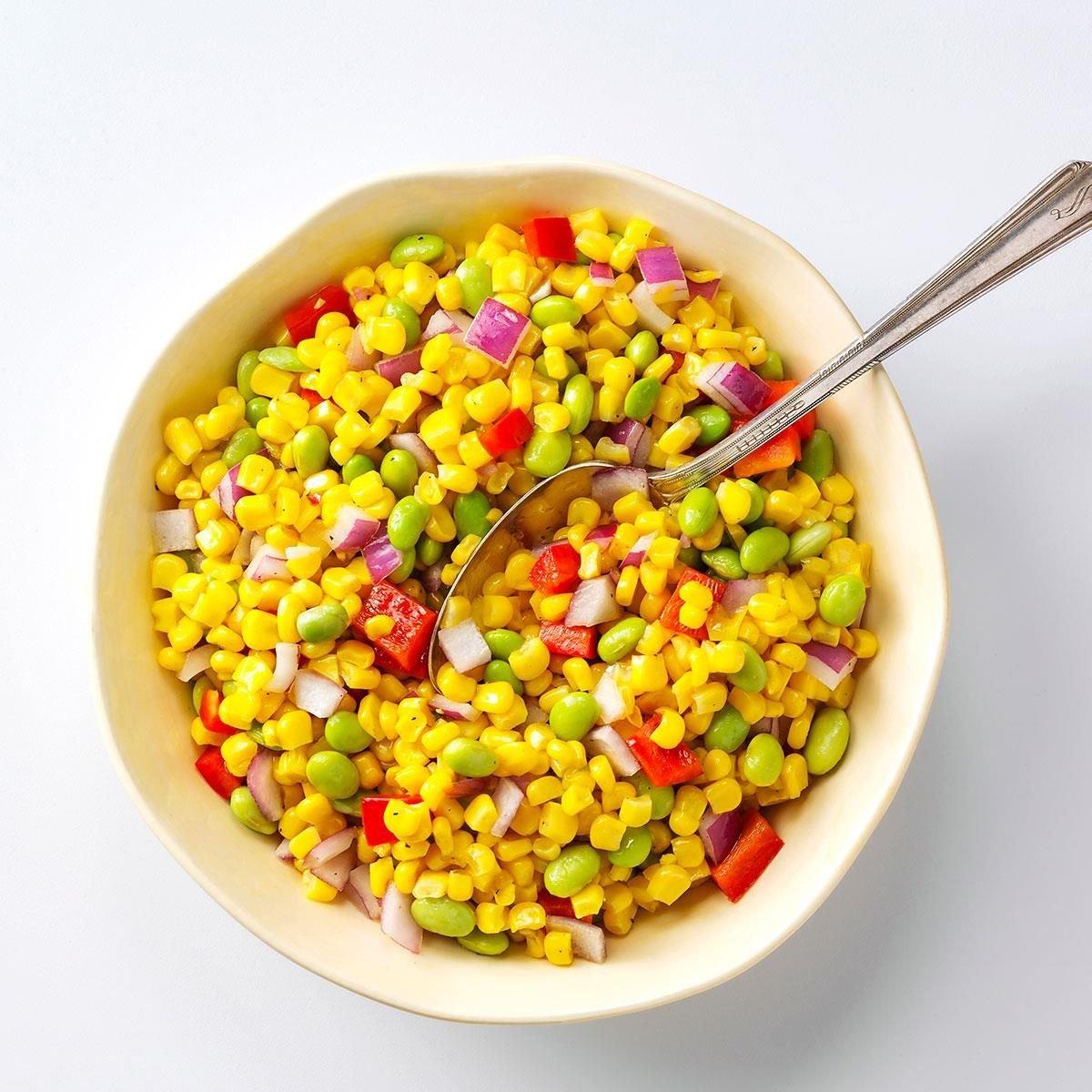 Asian Corn Succotash Recipe | Taste of Home