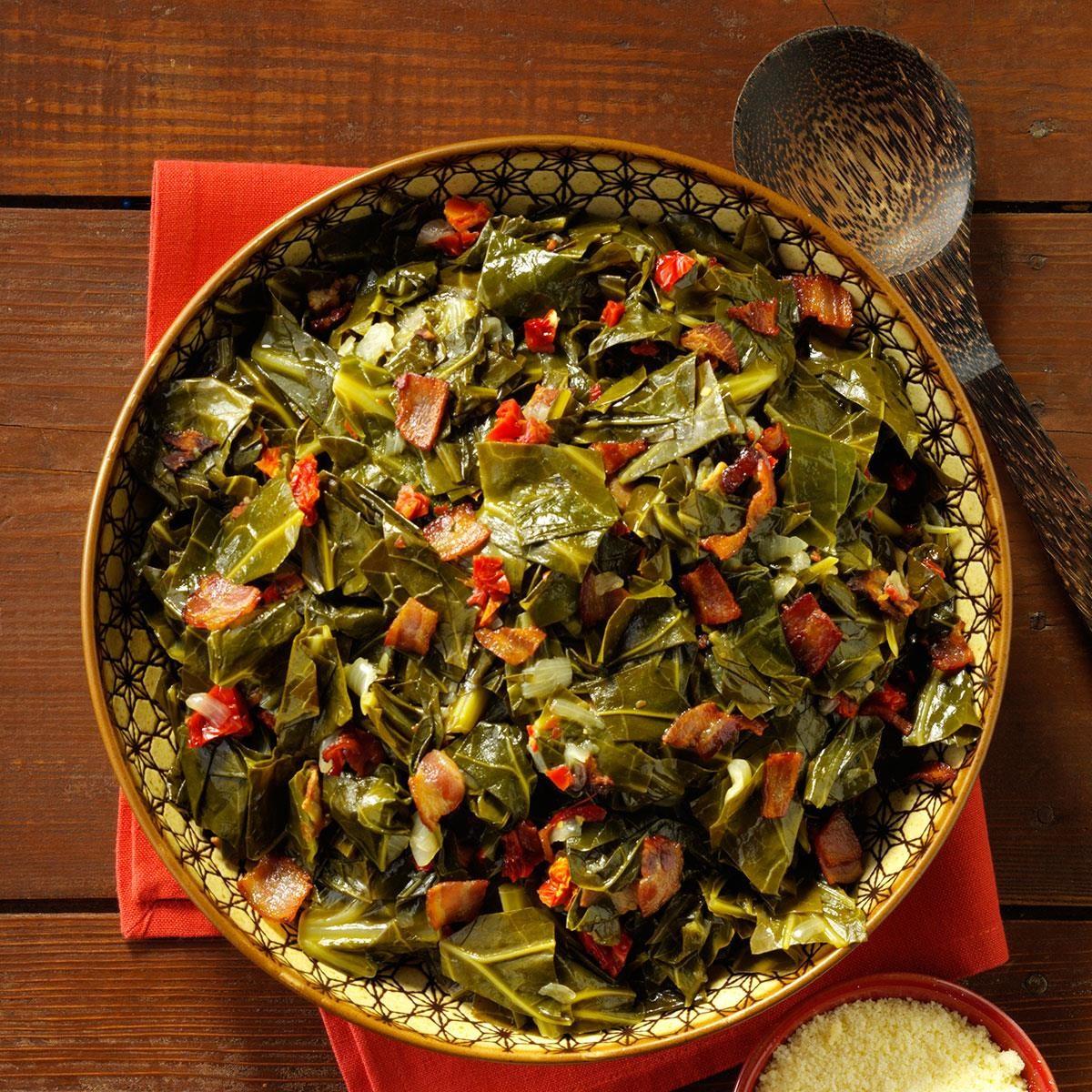 13 African Recipes: Bacon Collard Greens Recipe