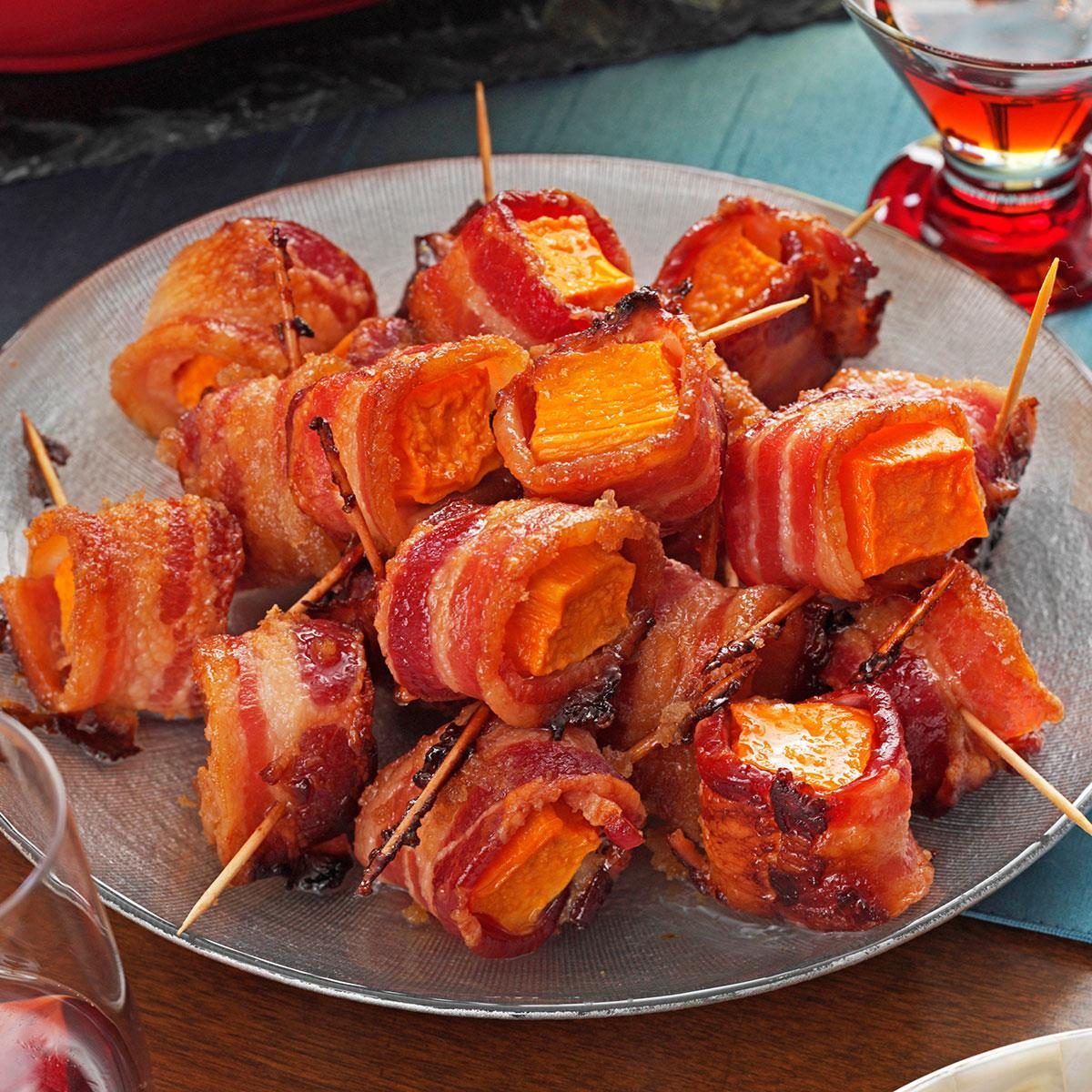 Bacon Wrapped Sweet Potato Bites Recipe Taste Of Home