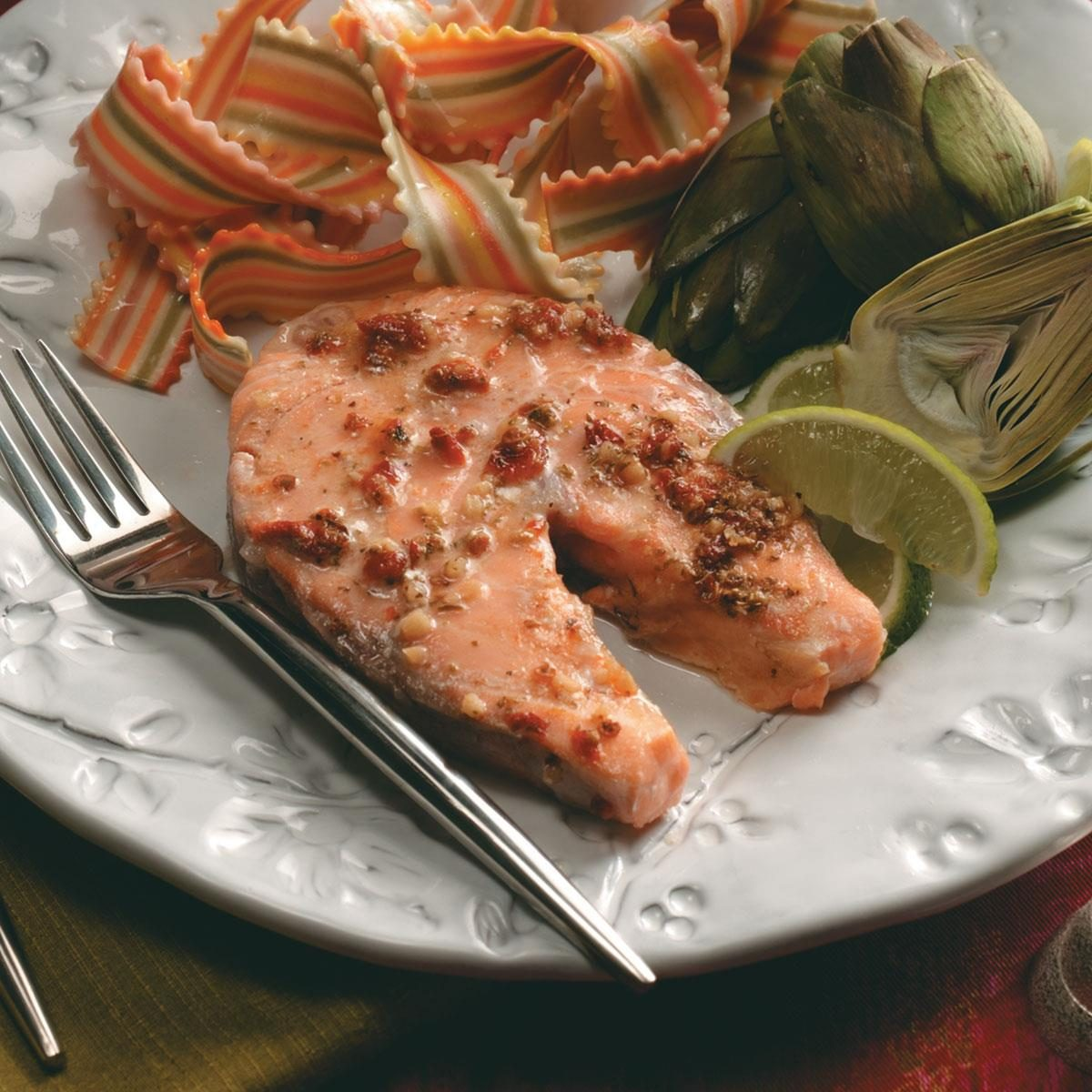 Baked Salmon Steak