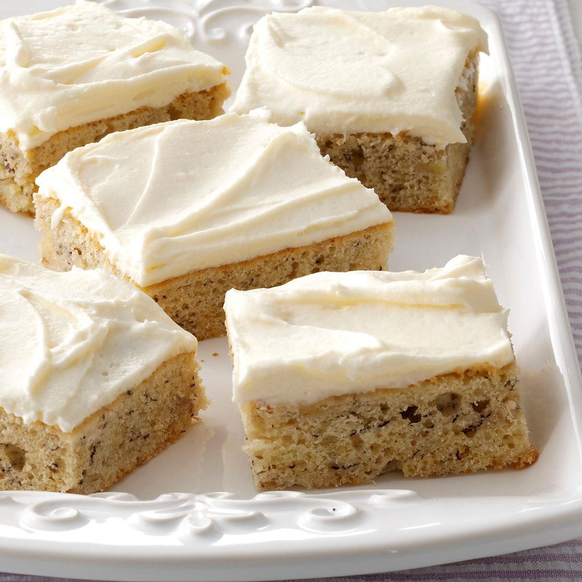 Banana Sheet Cake With Sour Cream