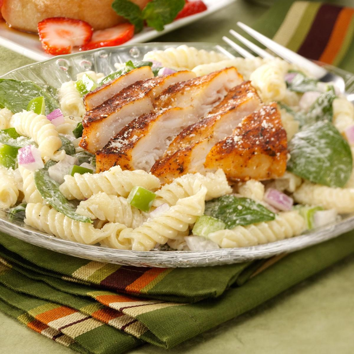 Blackened fish salad recipe taste of home for Fish and salad