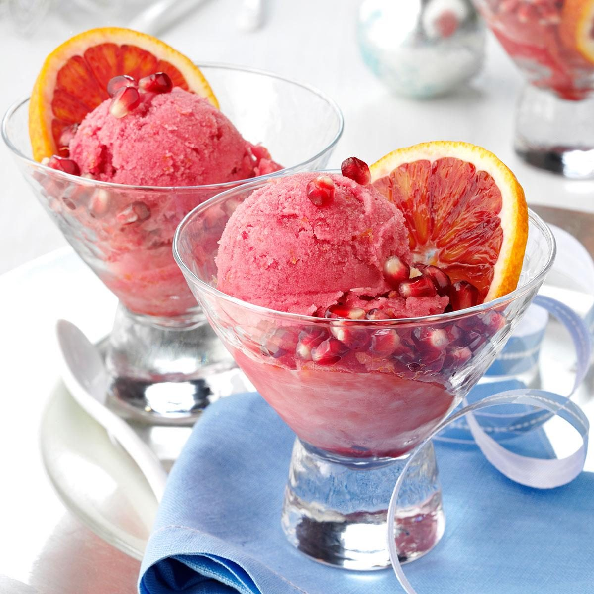 Blood Orange-Pomegranate Sorbet Recipe | Taste of Home