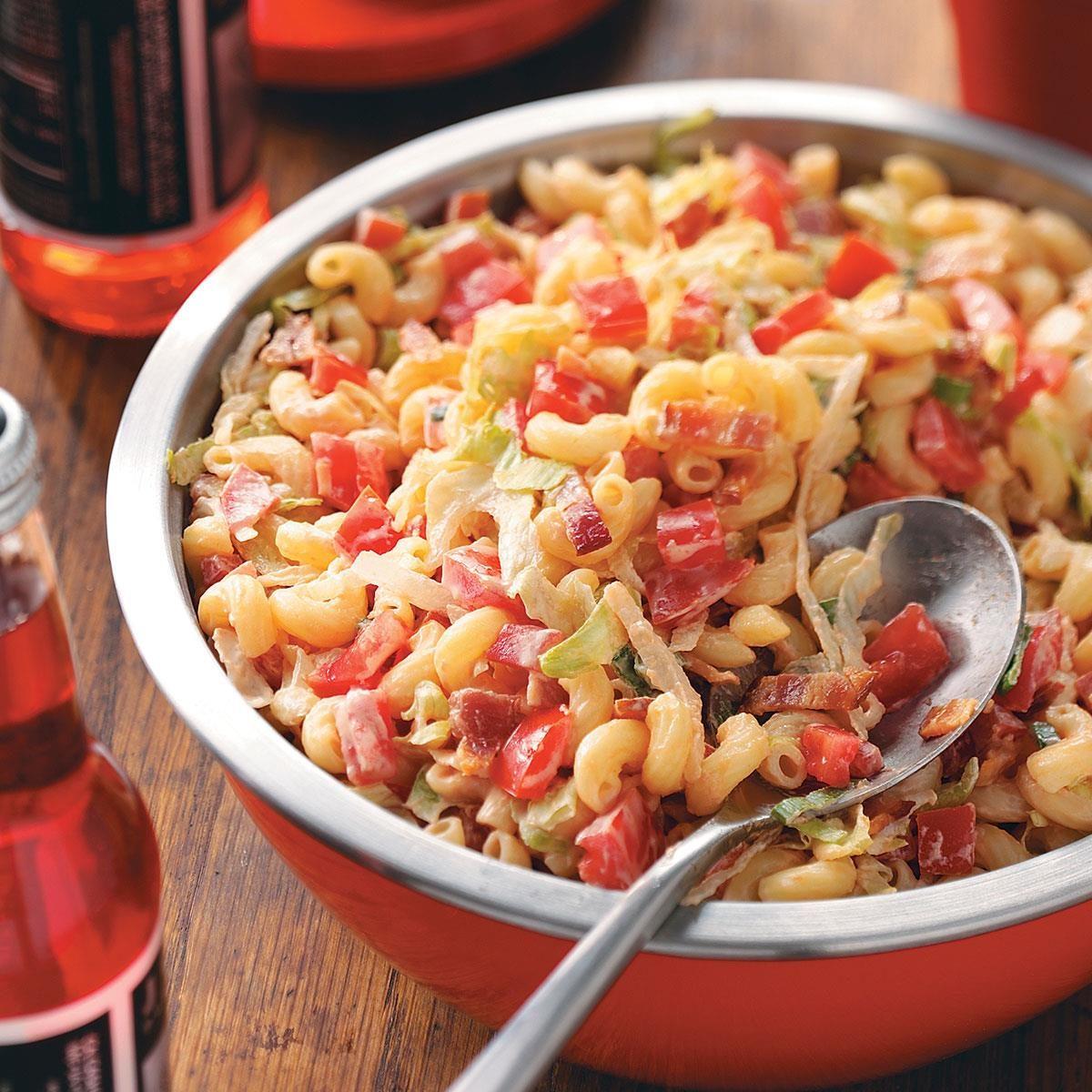 Blt Macaroni Salad Recipe Taste Of Home