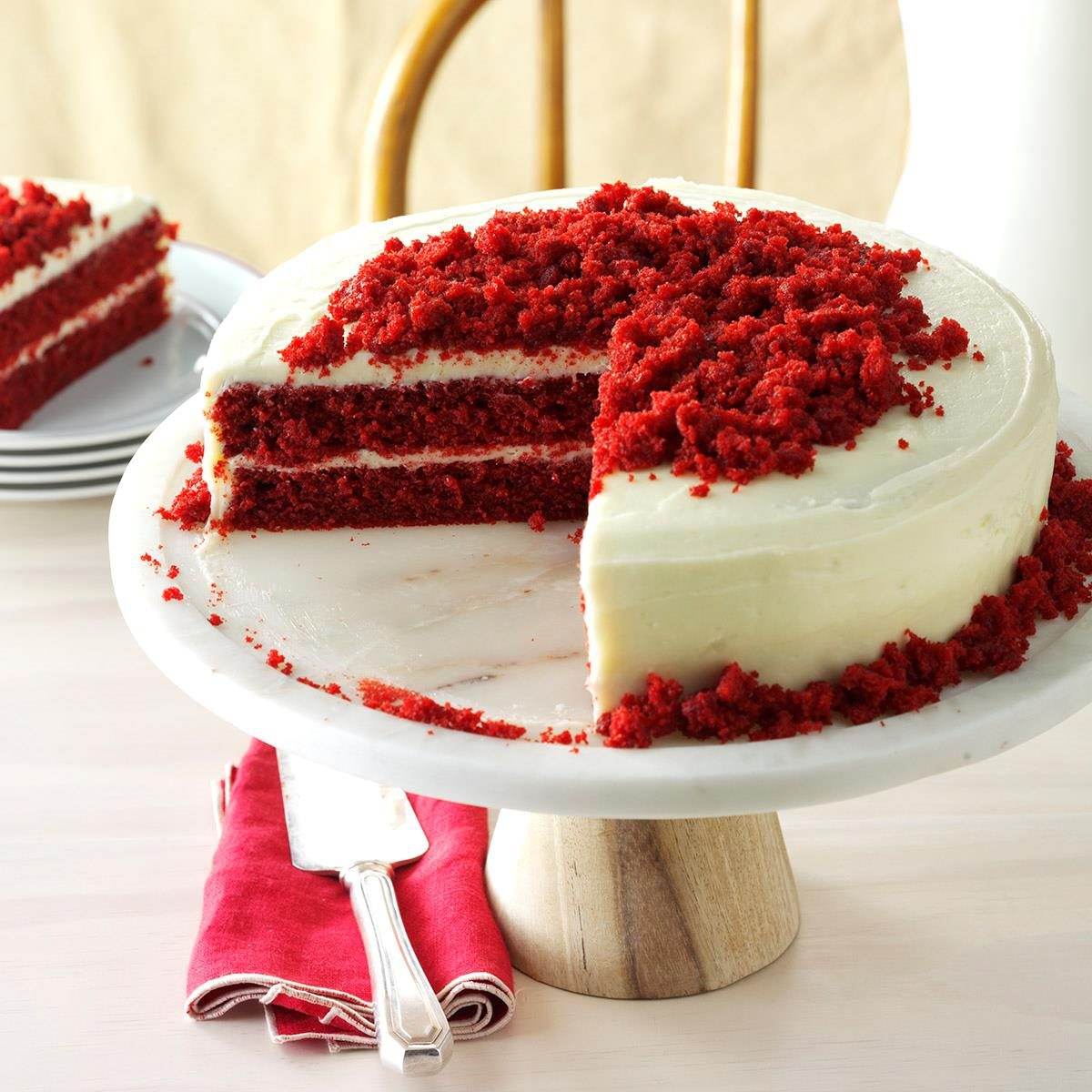 Red Ribbon Cake Recipe