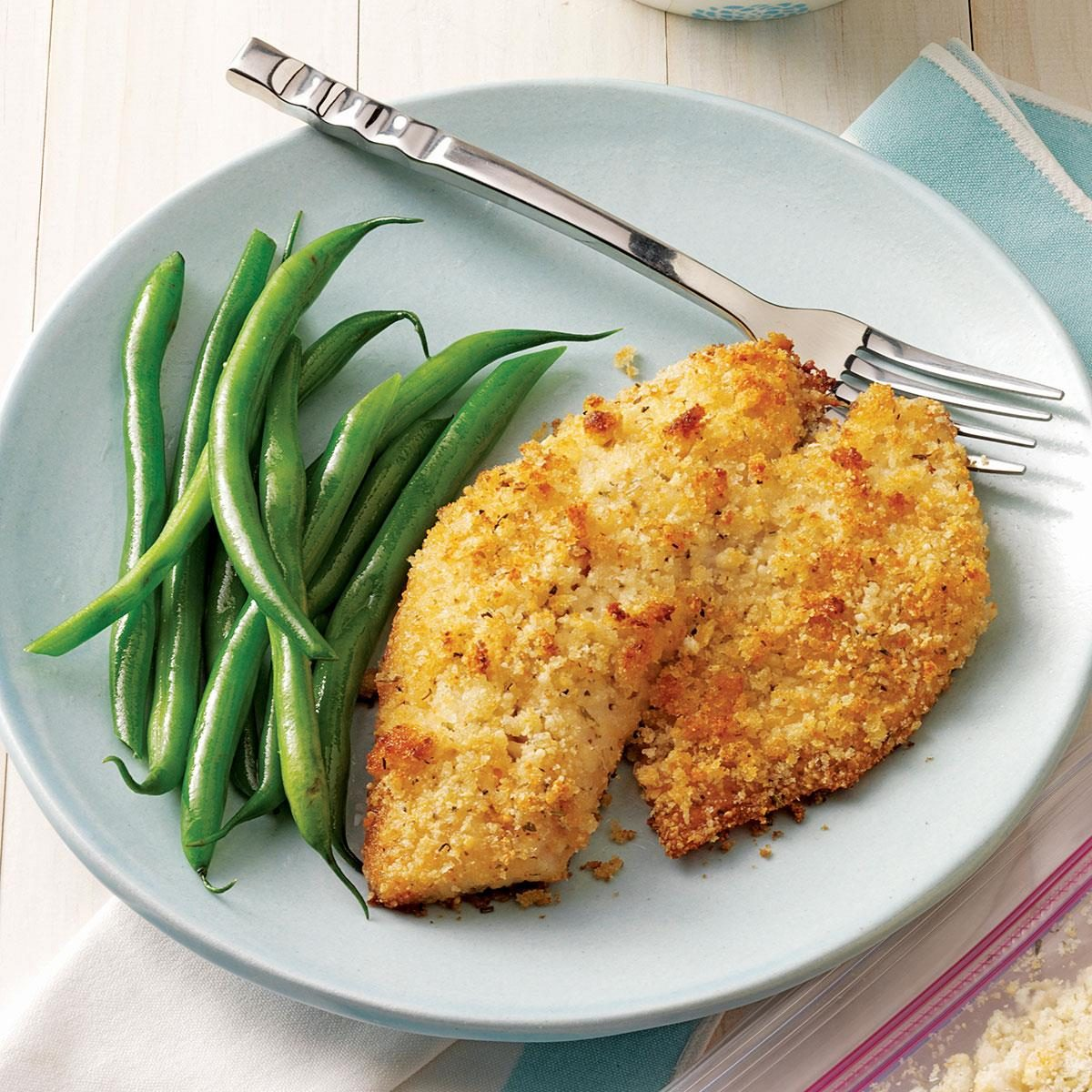 Breaded baked tilapia recipe taste of home for Tilapia fish recipes