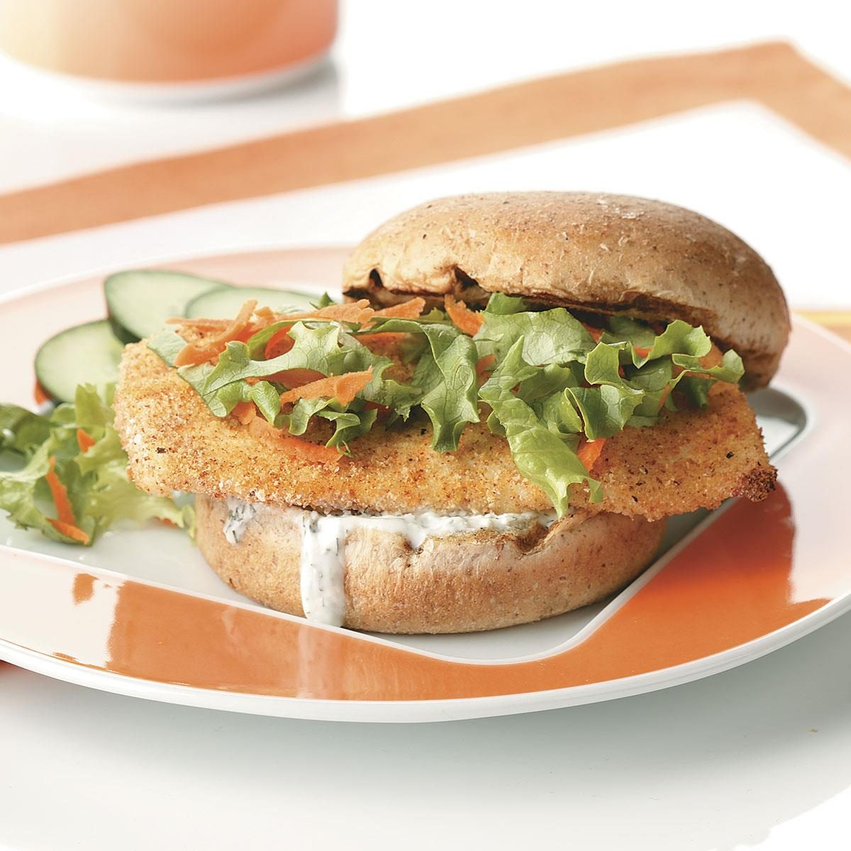 Breaded fish sandwiches for two recipe taste of home for How to make breaded fish