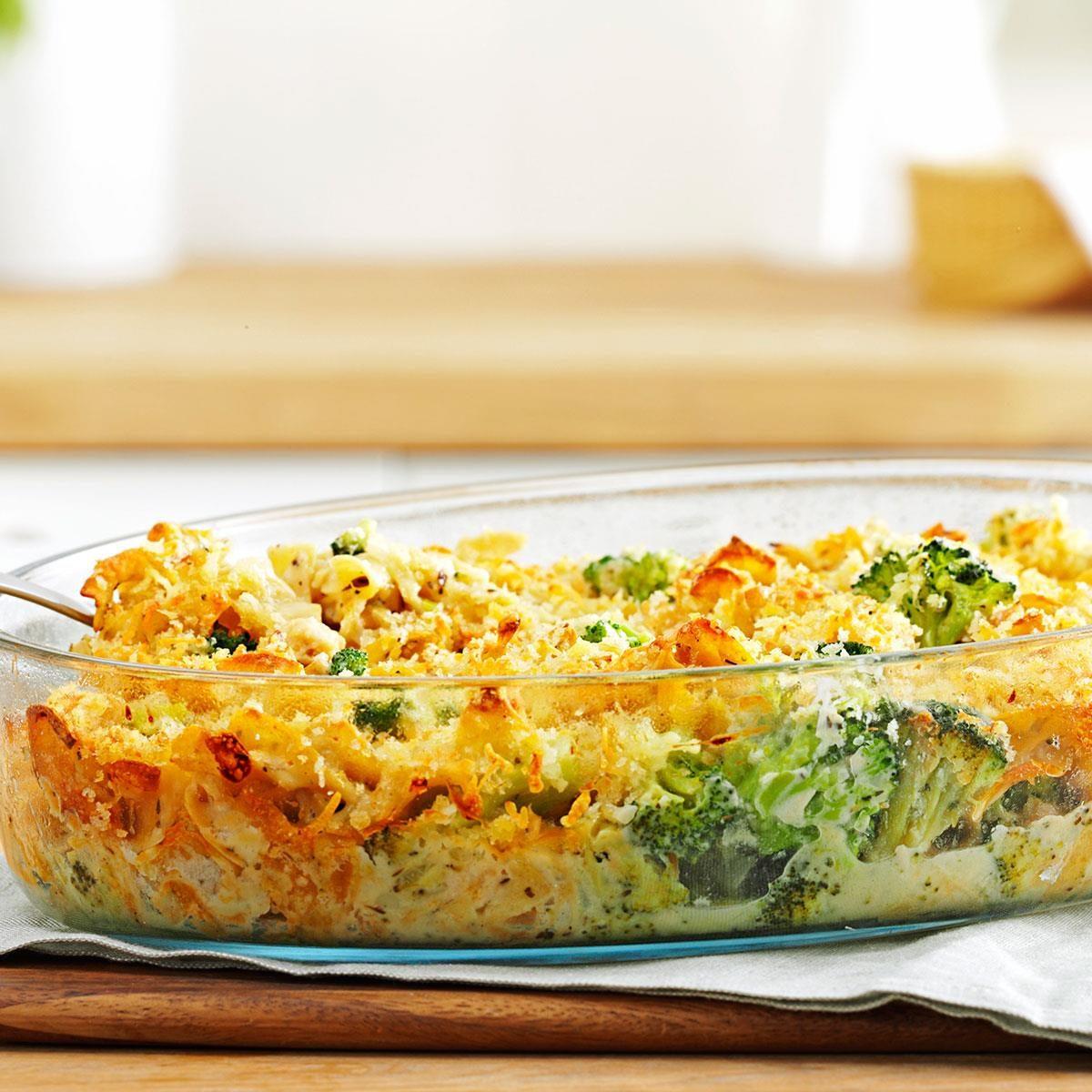 Broccoli tuna casserole recipe taste of home for How to make tuna fish casserole