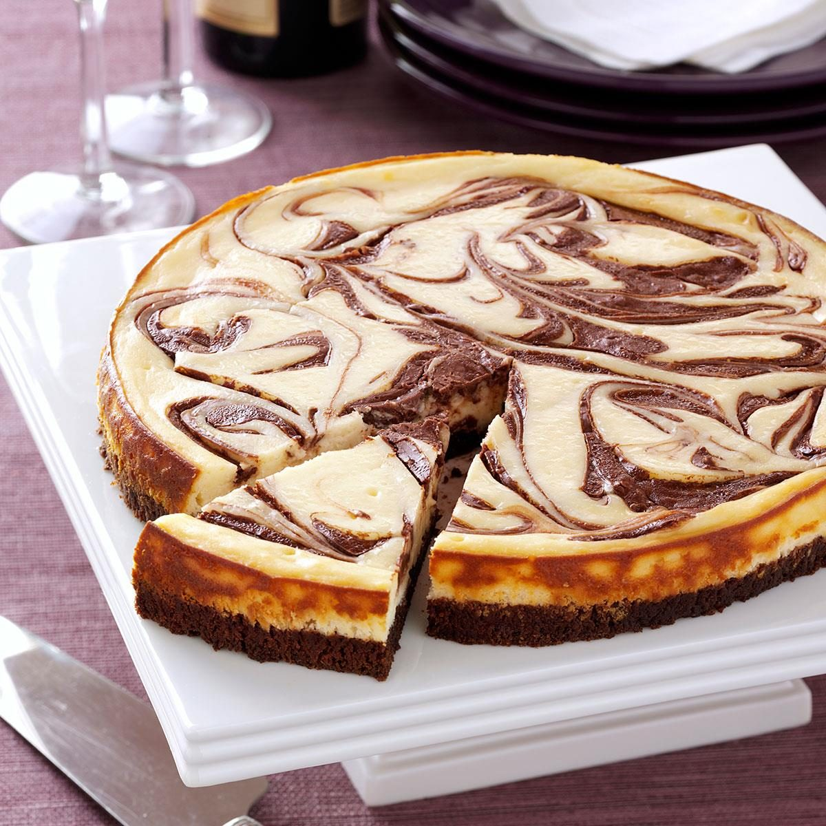 Brownie Swirl Cheesecake Recipe   Taste of Home