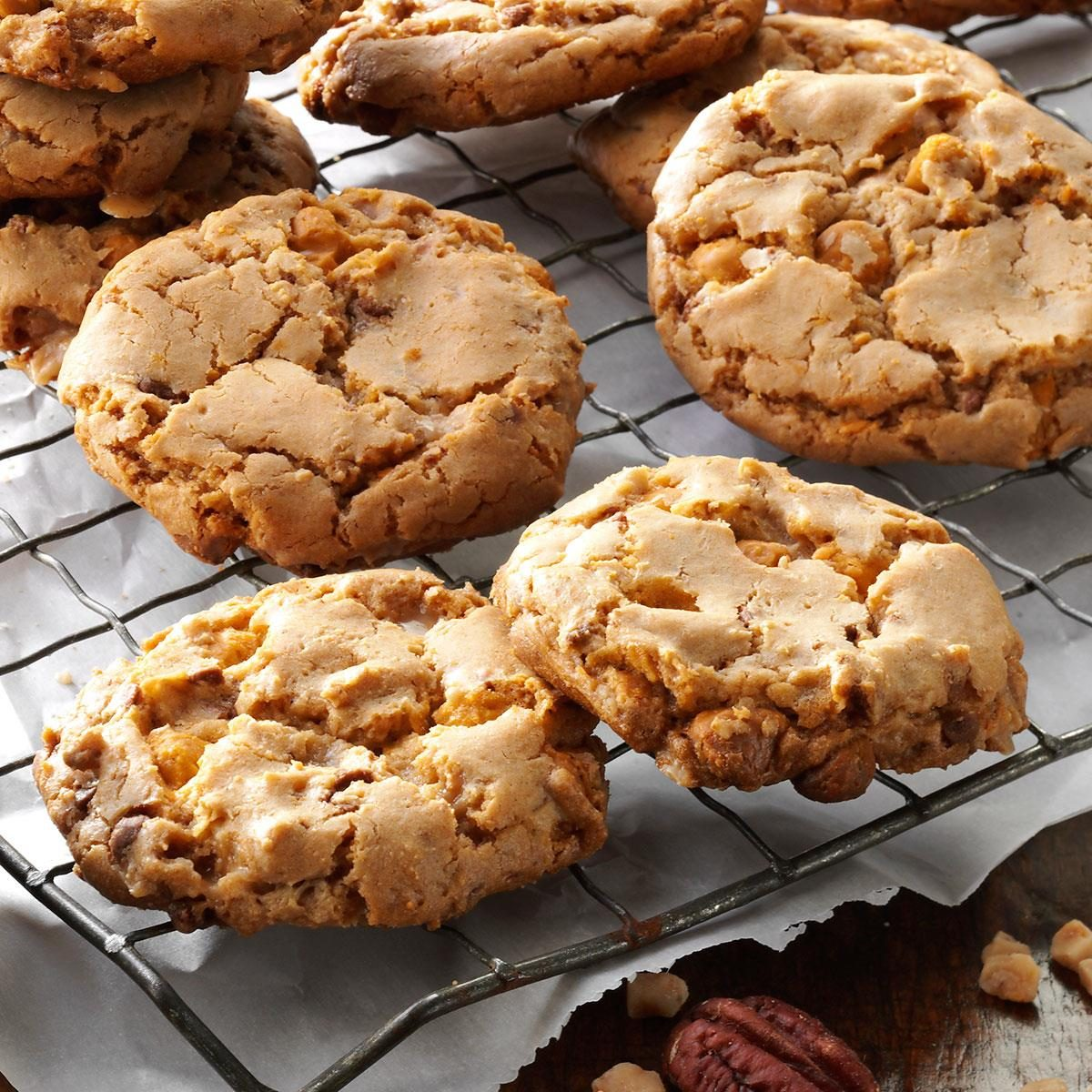 Butterscotch Toffee Cookies Recipe | Taste of Home