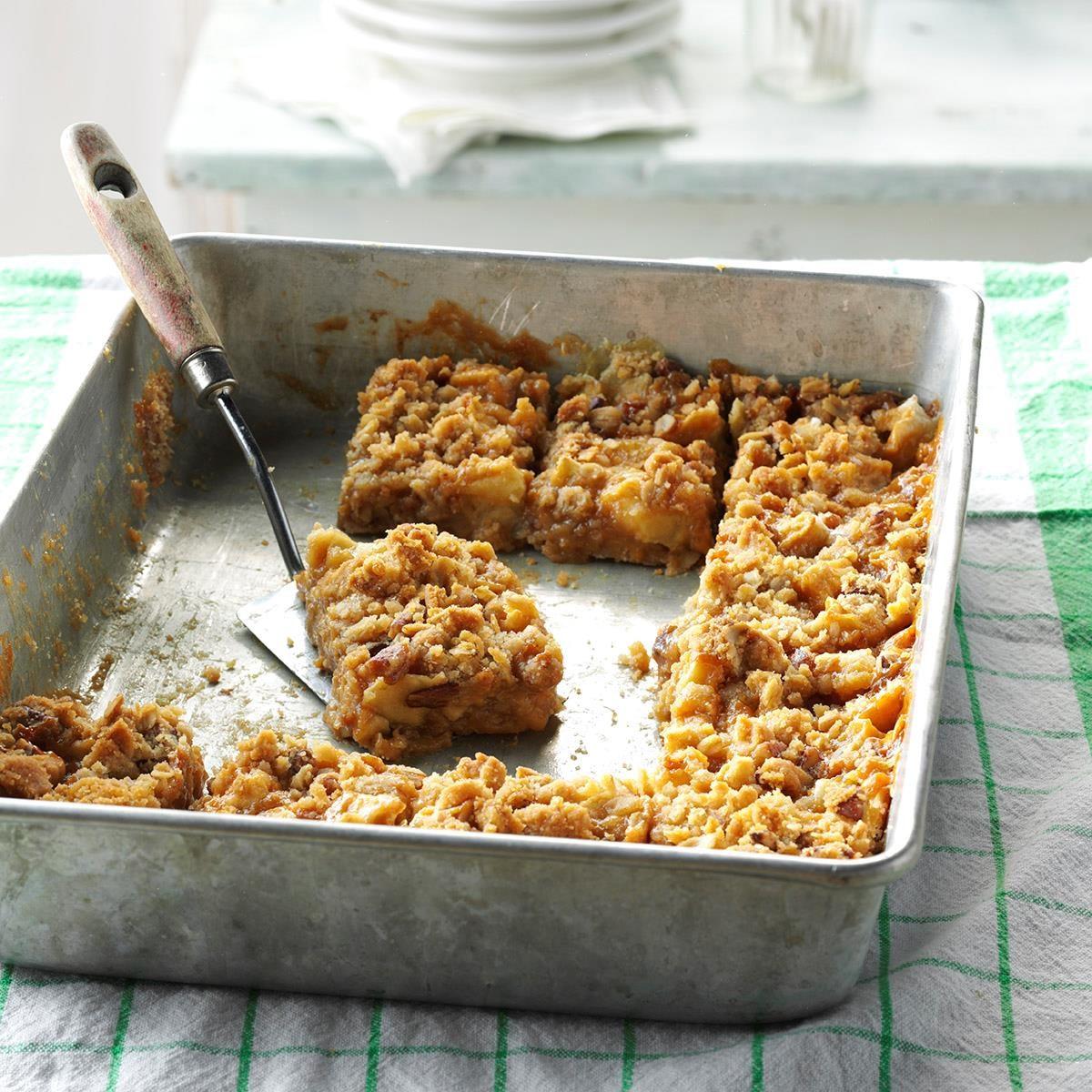 Caramel Apple Bars Recipe   Taste of Home