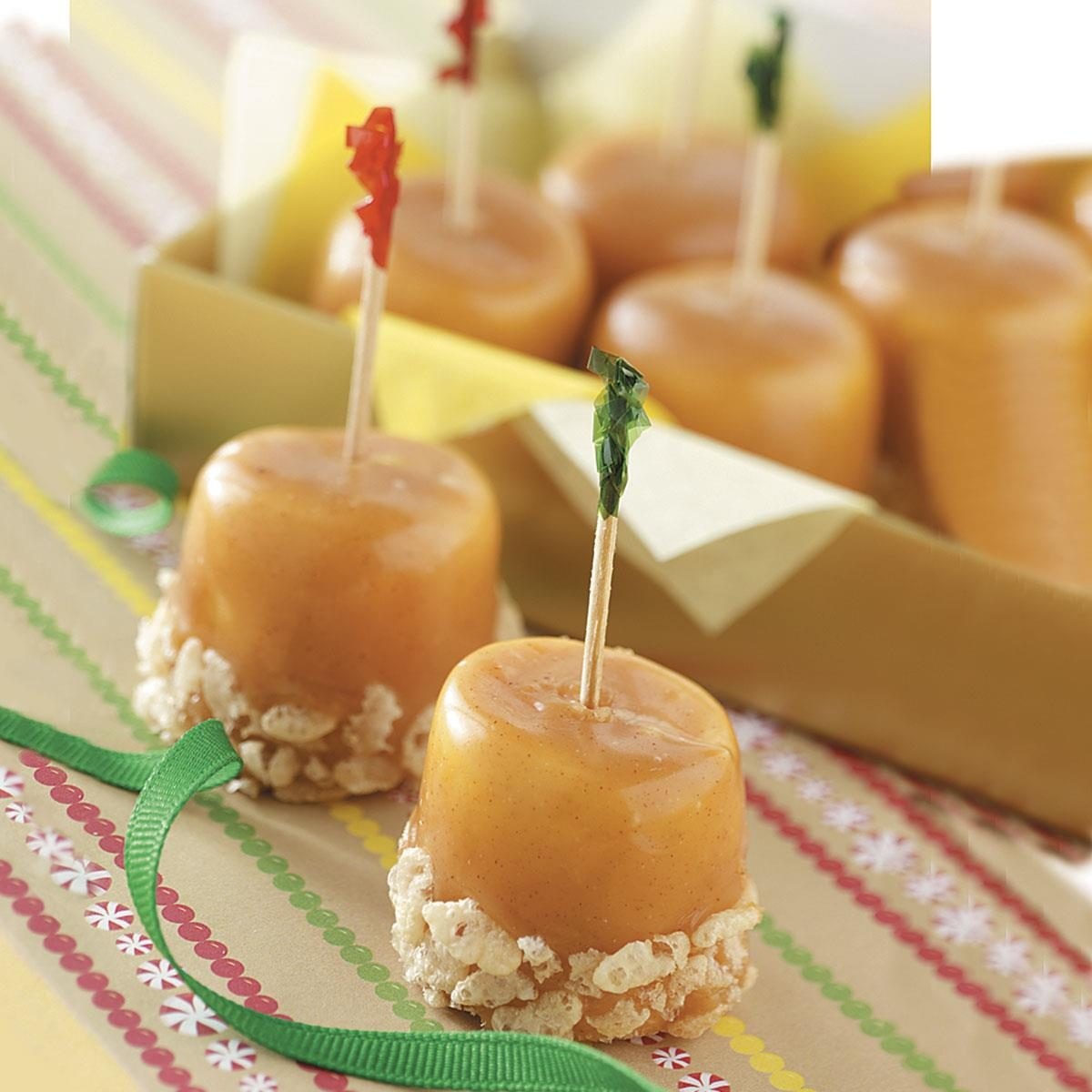 Caramel marshmallow treats recipe taste of home for Traditional christmas candy recipes