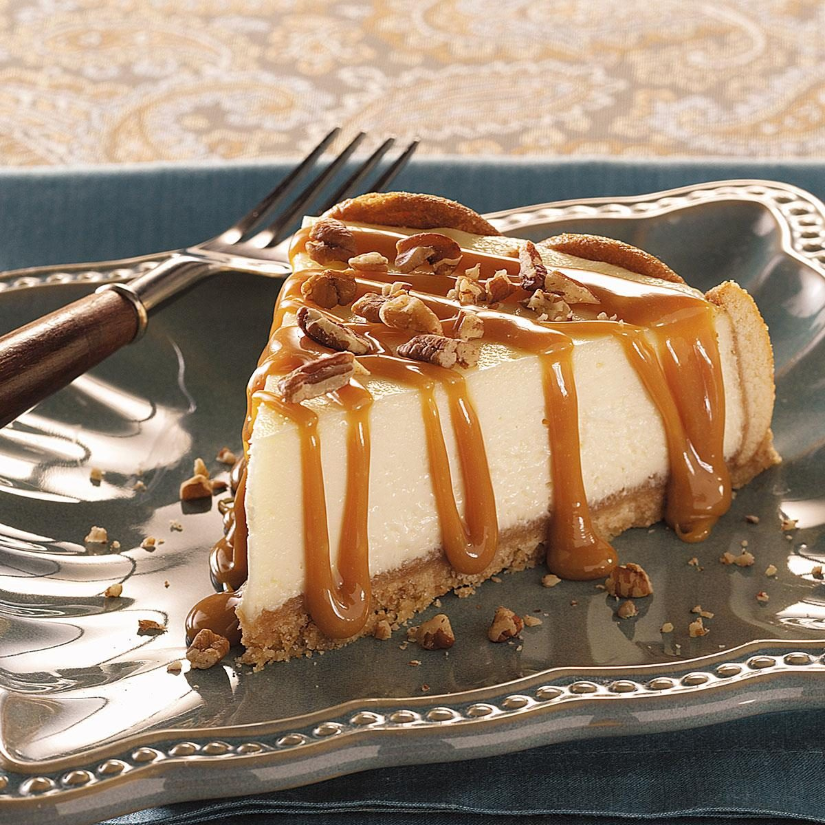 Caramel Praline Topped Cheesecake Recipe Taste Of Home