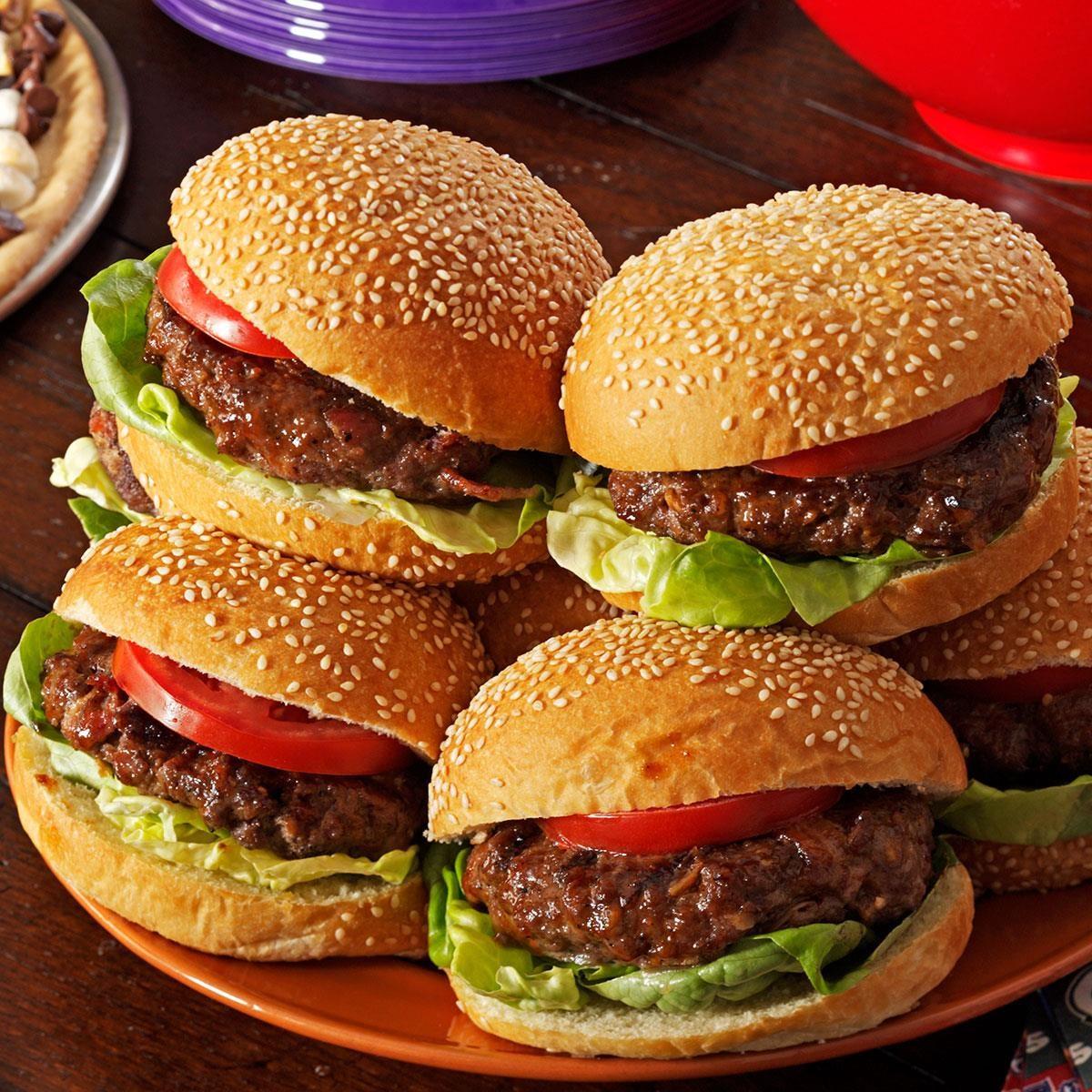 Cheddar & Bacon Burgers Recipe | Taste of Home