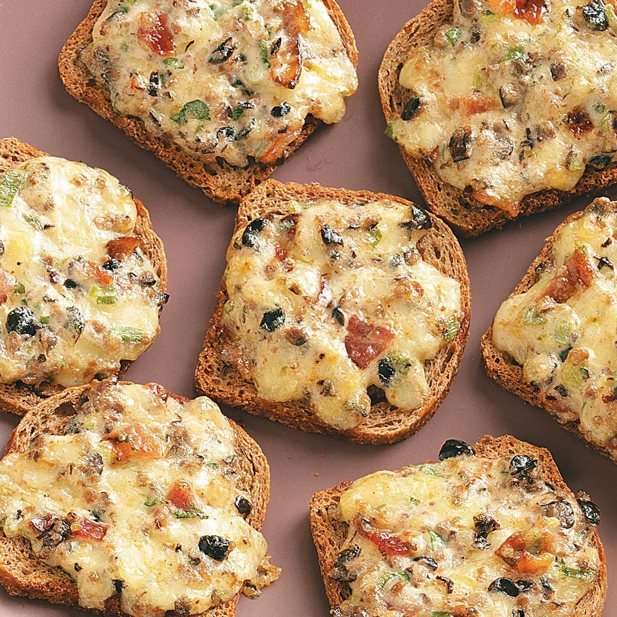 Cheese Rye Appetizers Recipe | Taste of Home