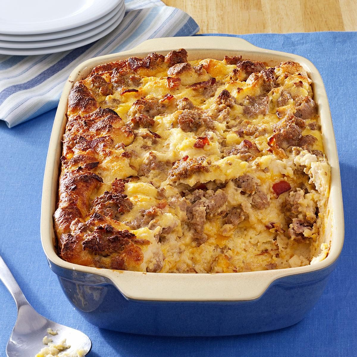 Egg Strata cheese sausage strata recipe | taste of home