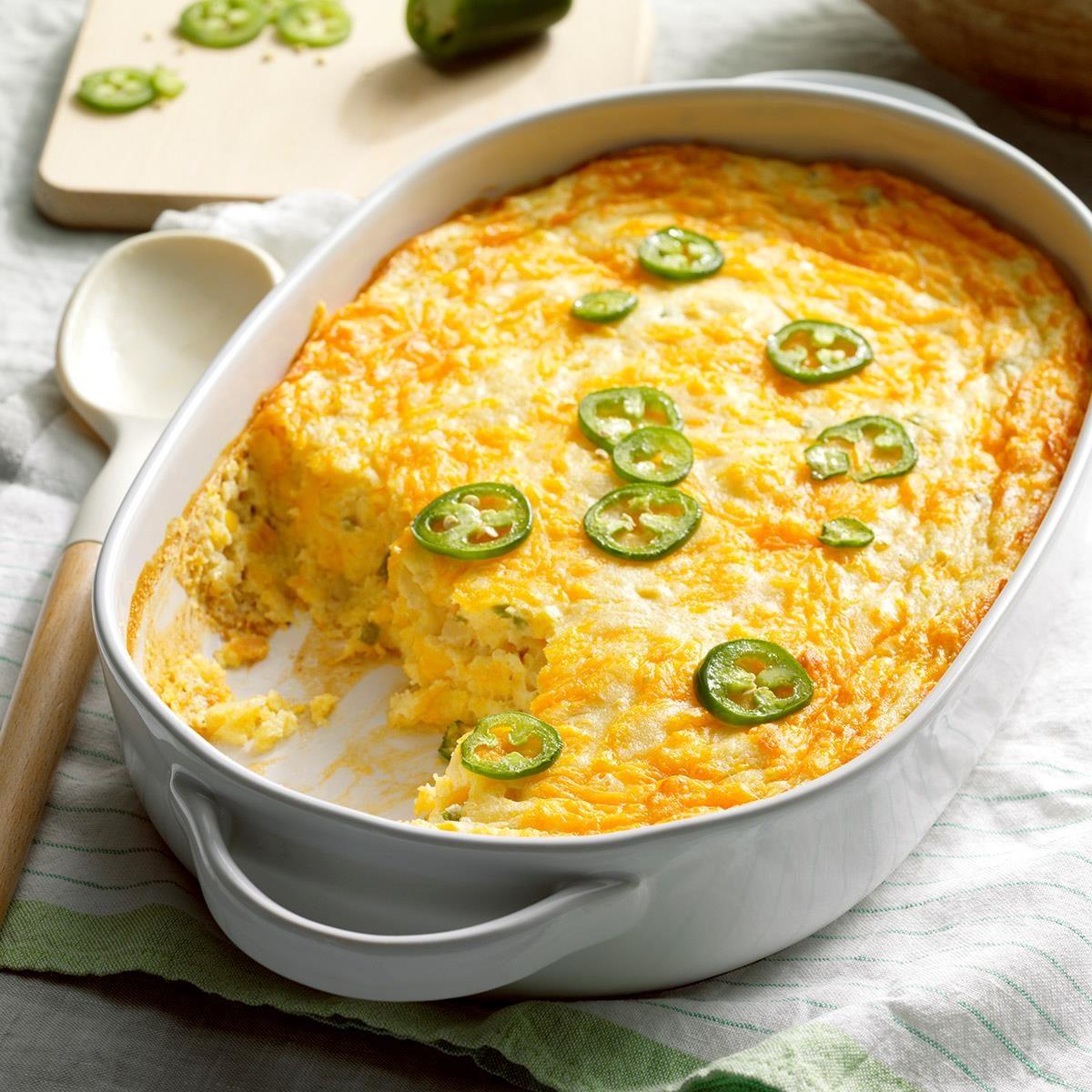 Cheesy Corn Spoon Bread Recipe | Taste of Home