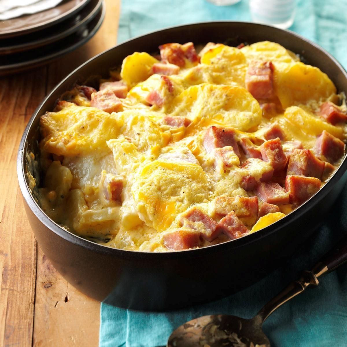 Cheesy Scalloped Potatoes & Ham Recipe