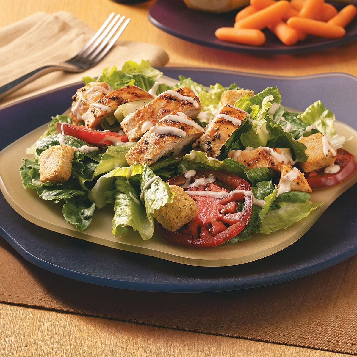 Chicken Caesar Salad For Two Recipe Taste Of Home