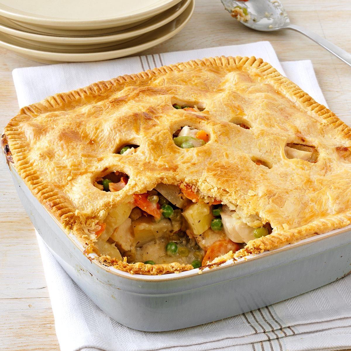 Turkey Potpies Recipe: Chicken Deep Dish Potpie Recipe