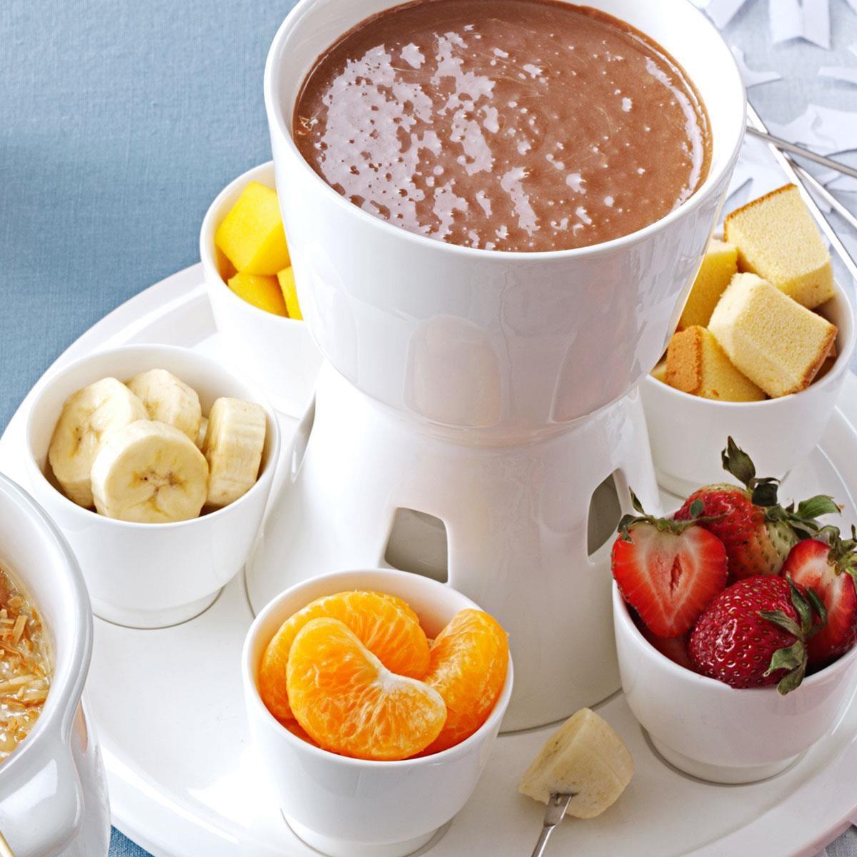 Chocolate Almond Fondue Recipe   Taste of Home