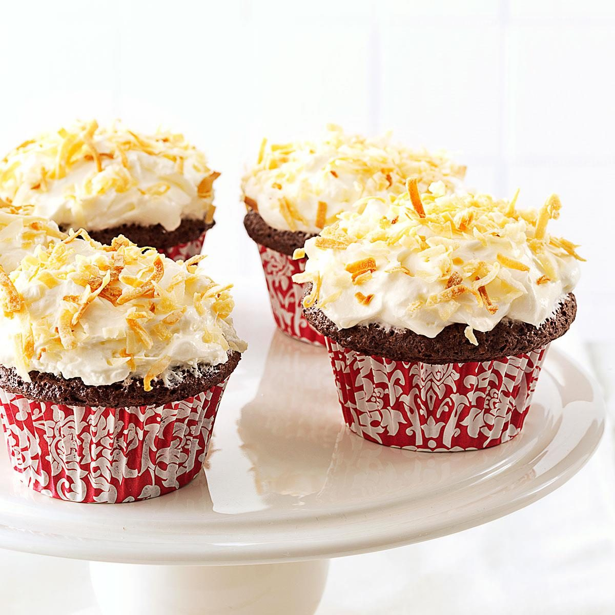 Chocolate Angel Cupcakes with Coconut Cream Frosting Recipe ...