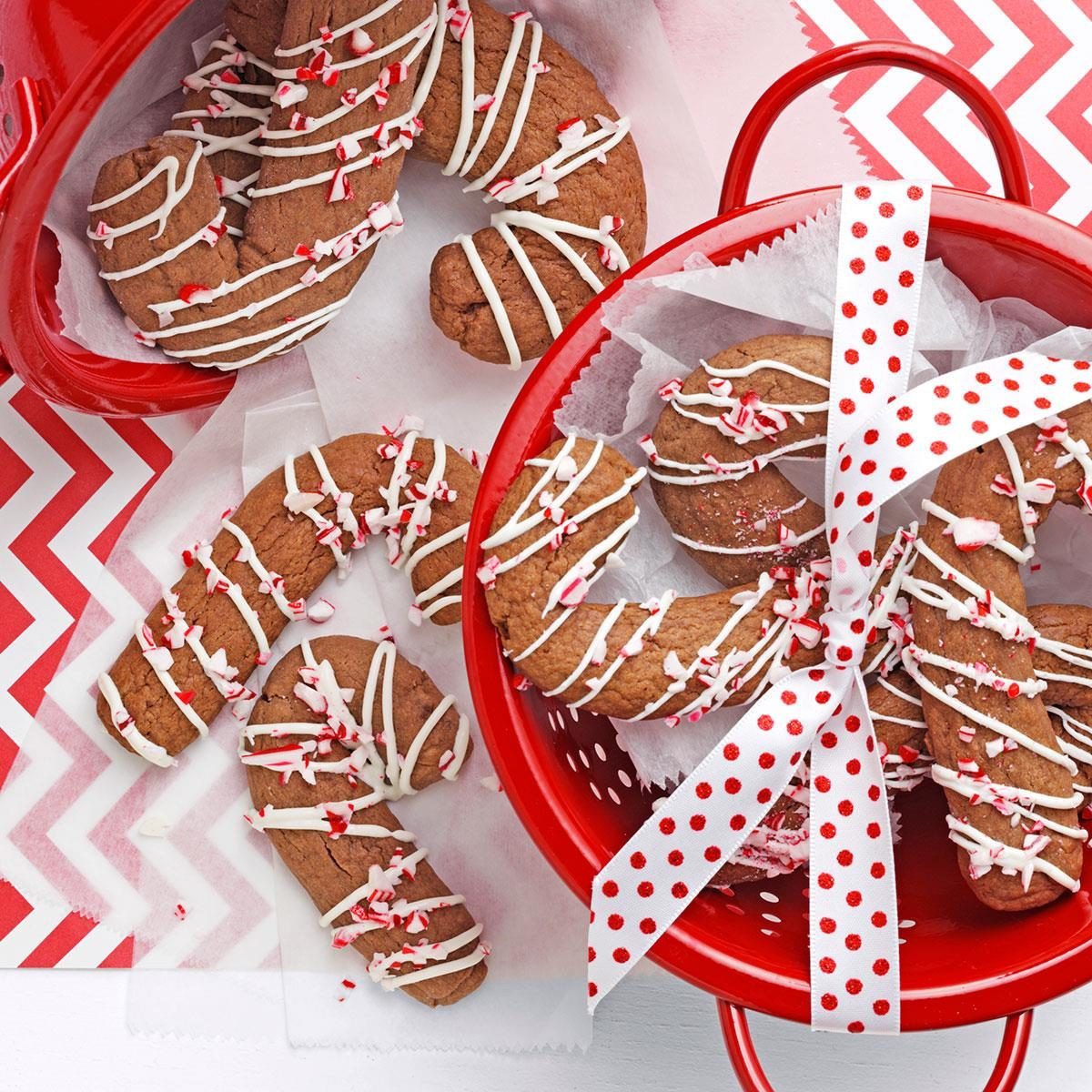 Chocolate Candy Cane Cookies Recipe | Taste of Home