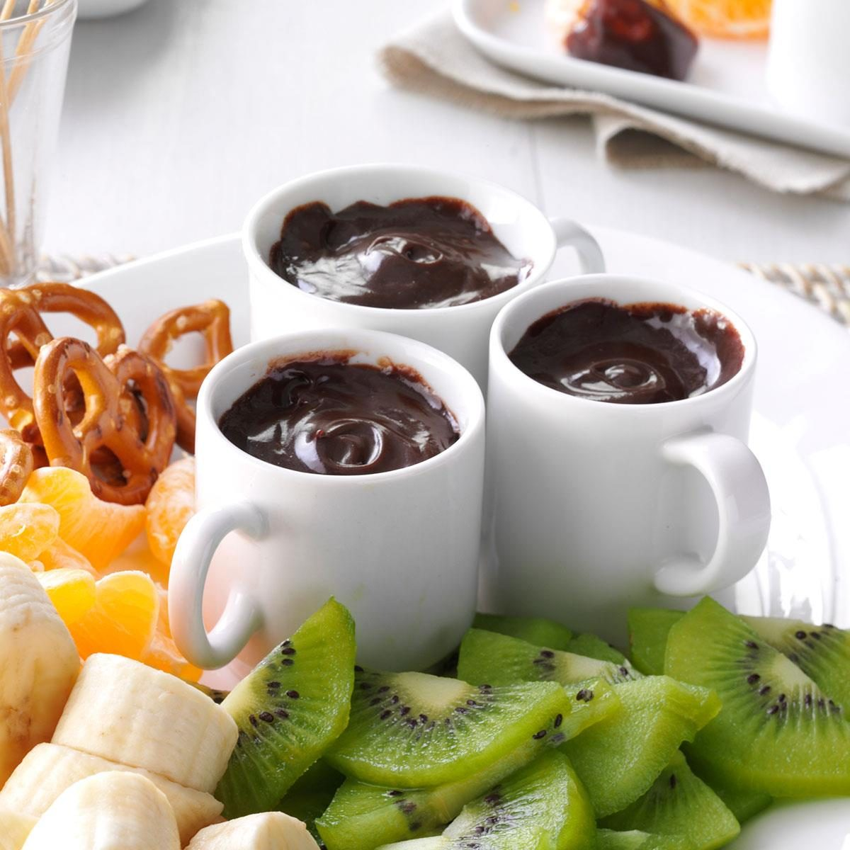 Chocolate Caramel Fondue Recipe | Taste of Home