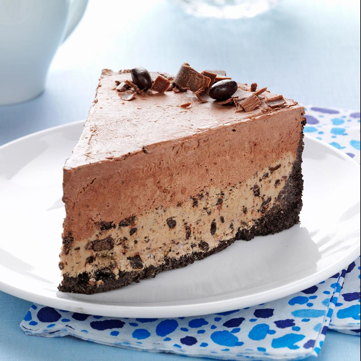 Chocolate-Coffee Bean Ice Cream Cake Recipe | Taste of Home