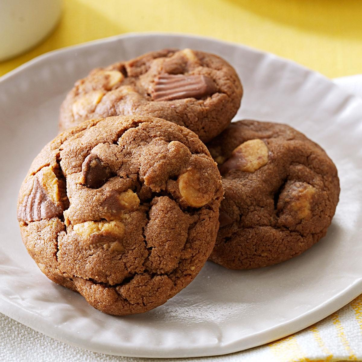 Chocolate-Peanut Butter Cup Cookies Recipe | Taste of Home