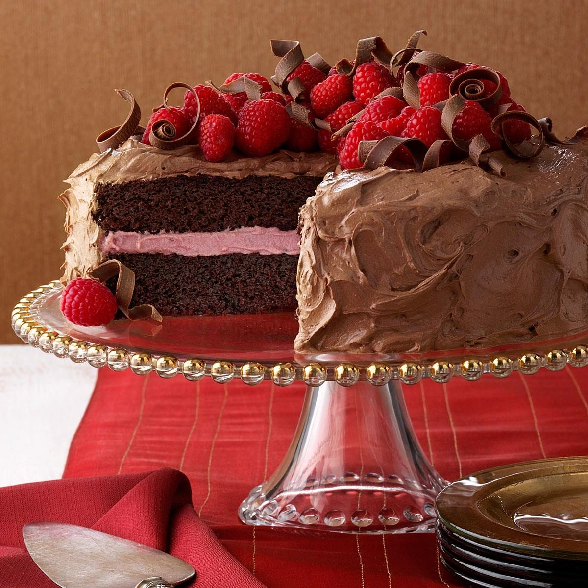 chocolate raspberry cake chocolate raspberry cake recipe taste of home 2902