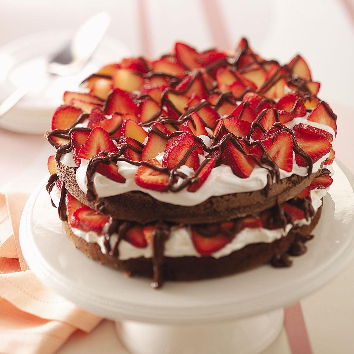 Simple Vanilla Cake With Egg: Chocolate Strawberry Torte Recipe